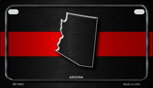 Arizona Thin Red Line Novelty Wholesale Motorcycle License Plate MP-9692