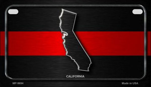 California Thin Red Line Novelty Wholesale Motorcycle License Plate MP-9694