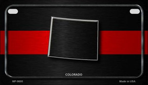 Colorado Thin Red Line Novelty Wholesale Motorcycle License Plate MP-9695