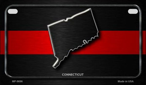 Connecticut Thin Red Line Novelty Wholesale Motorcycle License Plate MP-9696