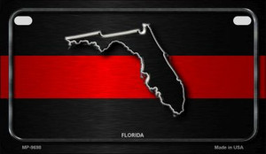 Florida Thin Red Line Novelty Wholesale Motorcycle License Plate MP-9698