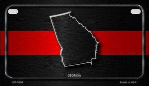 Georgia Thin Red Line Novelty Wholesale Motorcycle License Plate MP-9699