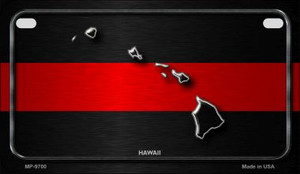 Hawaii Thin Red Line Novelty Wholesale Motorcycle License Plate MP-9700