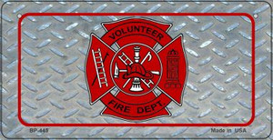 Volunteer Fire Dept Novelty Wholesale Bicycle License Plate