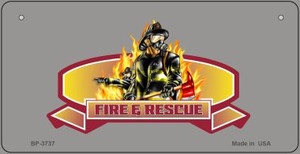 Fire Rescue Novelty Wholesale Bicycle License Plate BP-3737