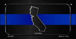 California Thin Blue Line Novelty Wholesale Bicycle License Plate BP-8887