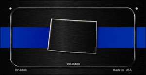 Colorado Thin Blue Line Novelty Wholesale Bicycle License Plate BP-8888