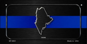 Maine Thin Blue Line Novelty Wholesale Bicycle License Plate BP-8901