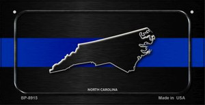 North Carolina Thin Blue Line Novelty Wholesale Bicycle License Plate BP-8915