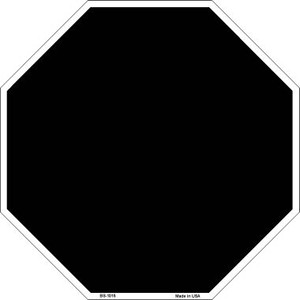 Black Dye Sublimation Wholesale Octagon Metal Novelty Stop Sign BS-1015