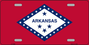Arkansas State Flag Wholesale Metal Novelty License Plate LP-3568