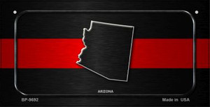Arizona Thin Red Line Novelty Wholesale Bicycle License Plate BP-9692