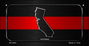 California Thin Red Line Novelty Wholesale Bicycle License Plate BP-9694