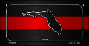 Florida Thin Red Line Novelty Wholesale Bicycle License Plate BP-9698