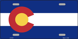 Colorado State Flag Wholesale Metal Novelty License Plate LP-3571