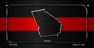 Georgia Thin Red Line Novelty Wholesale Bicycle License Plate BP-9699