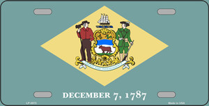 Delaware State Flag Wholesale Metal Novelty License Plate LP-3573