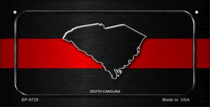 South Carolina Thin Red Line Novelty Wholesale Bicycle License Plate BP-9729