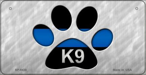 K9 Police Novelty Wholesale Bicycle License Plate BP-9438