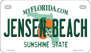 Jensen Beach Florida State Novelty Wholesale Motorcycle License Plate MP-11691