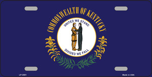 Kentucky State Flag Wholesale Metal Novelty License Plate LP-3581