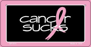 Cancer Sucks Novelty Wholesale Bicycle Plate BP-5111