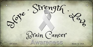 Brain Cancer Ribbon Novelty Wholesale Bicycle Plate BP-8302