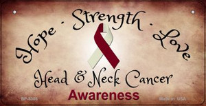 Head and Neck Cancer Ribbon Novelty Wholesale Bicycle Plate BP-8308