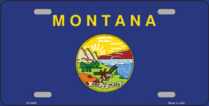Montana State Flag Wholesale Metal Novelty License Plate LP-3589