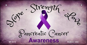 Pancreatic Cancer Ribbon Novelty Wholesale Bicycle Plate BP-8318