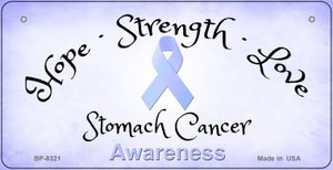 Stomach Cancer Ribbon Novelty Wholesale Bicycle Plate BP-8321