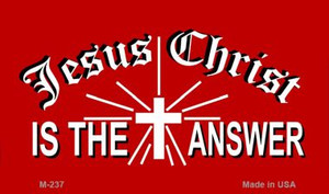 Jesus Christ Is The Answer Novelty Wholesale Magnet M-237