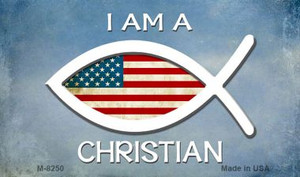 I Am A Christian Novelty Wholesale Magnet M-8250