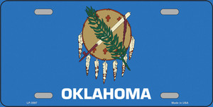 Oklahoma State Flag Wholesale Metal Novelty License Plate LP-3597