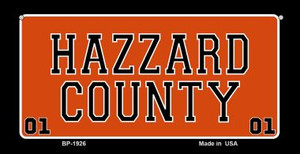 Hazzard Country Novelty Wholesale Bicycle Plate BP-1926