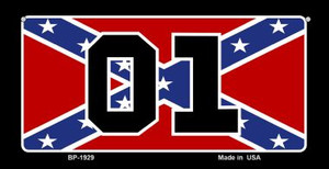01 Confederate Flag Novelty Wholesale Bicycle Plate BP-1929