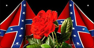Confederate Rose Novelty Wholesale Bicycle Plate BP-2412