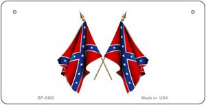 Confederate Waving Flags Novelty Wholesale Bicycle Plate BP-2400