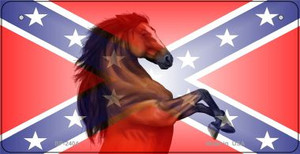 Confederate Stallion Novelty Wholesale Bicycle Plate BP-2404