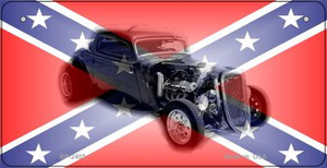 Confederate Hotrod Novelty Wholesale Bicycle Plate BP-2405