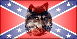 Confederate Wolf Novelty Wholesale Bicycle Plate BP-2407