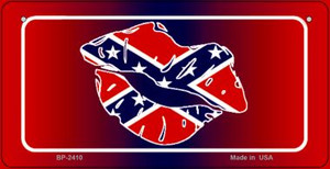 Confederate Lips Novelty Wholesale Bicycle Plate BP-2410