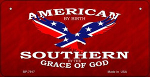 American By Birth Confederate Novelty Wholesale Bicycle Plate BP-7917