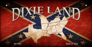 Dixie Land Novelty Wholesale Bicycle Plate BP-7923