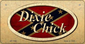 Dixie Chick Confederate Novelty Wholesale Bicycle Plate BP-7960