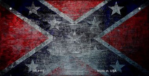 Confederate Flag Scratched Novelty Wholesale Bicycle Plate BP-8110