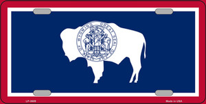 Wyoming State Flag Wholesale Metal Novelty License Plate LP-3609