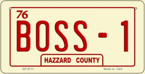 Boss -1 Novelty Wholesale Bicycle Plate BP-8711