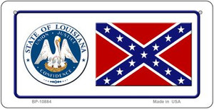 Confederate Louisiana Novelty Wholesale Bicycle Plate BP-10884