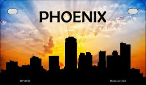 Phoenix Silhouette Motorcycle License Plate MP-8702